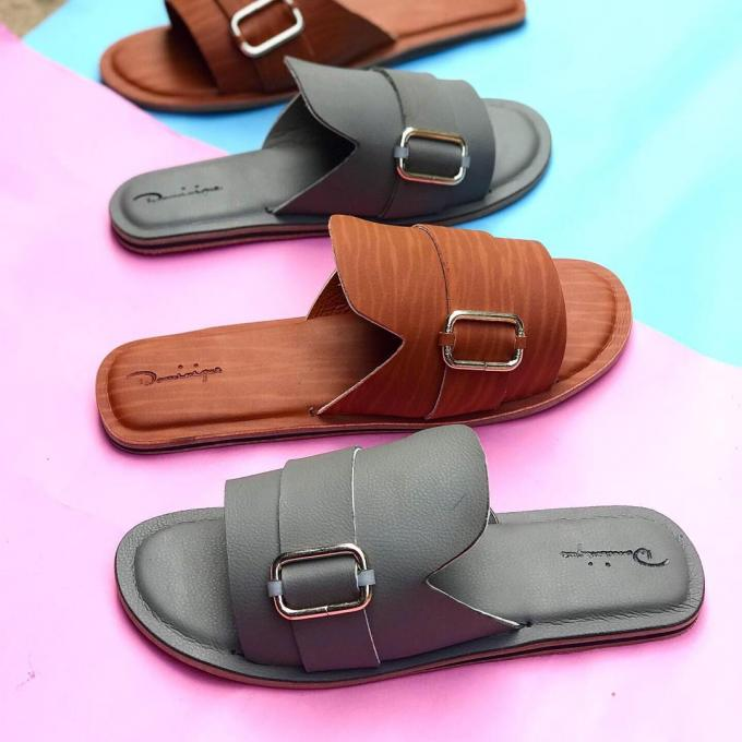 Men's brown and ash cover Pam slippers :- Color: brown or ash, material:...