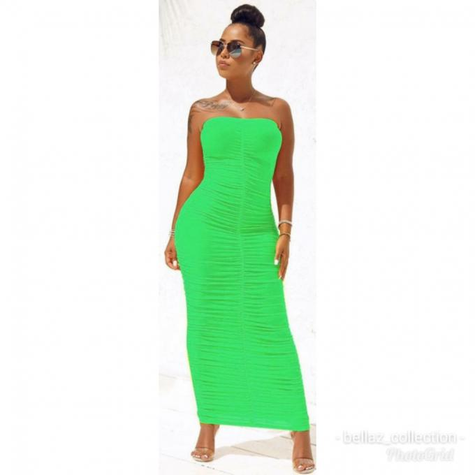 Handless long gown :- Handless long gown (color-gree...