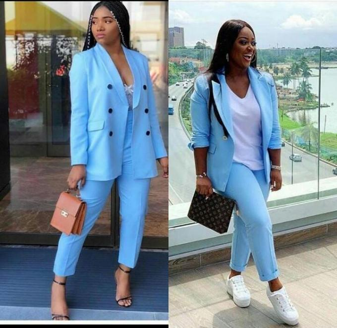 Stock Blazer and pants- colour blue(size:8-14).color on display :- Women cloth