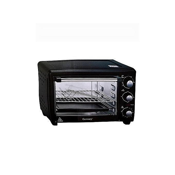 Century 20 Litre STRONG ELECTRIC OVEN CENTURY COV-8320-A- Black - 4 Durable stainless steel heat...