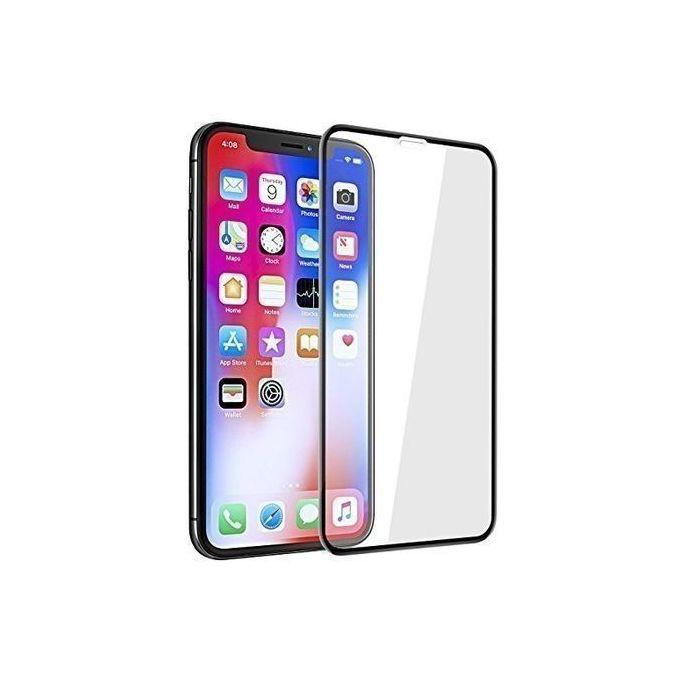 IPhone XR Tempered Glass Screen Protector (Black) :- high quality