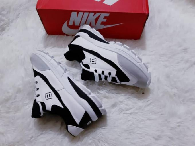 Black and white sneakers- Black and white sneakers  size...