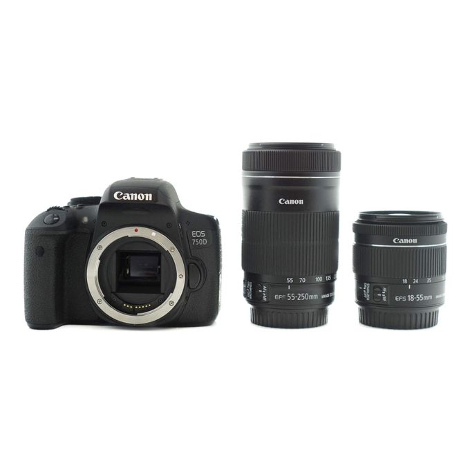 Canon EOS 750D WITH 18 -55MM & 55 - 250mm LENS :-