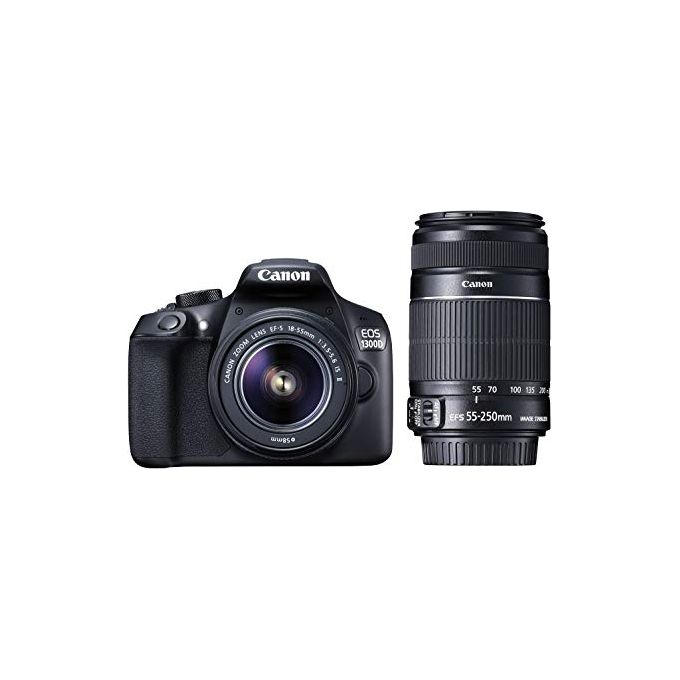Canon EOS 1300D Digital Camera With 18-55mm And 55-250mm Lens -