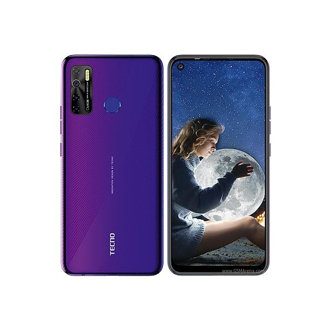 Tecno Tecno Camon 15 - Dual - 64GB ROM - 4GB RAM - 4G LTE - 48mp - 6.6''- 5000mAh - Fingerprint Fascinating Purple - 6.6