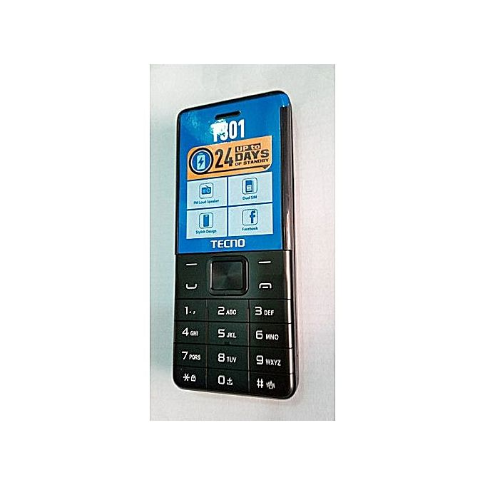 Tecno T301 Dual Sim With Camera And Torch Light 1150mAh - Black :- Model: T301Operating System: M...