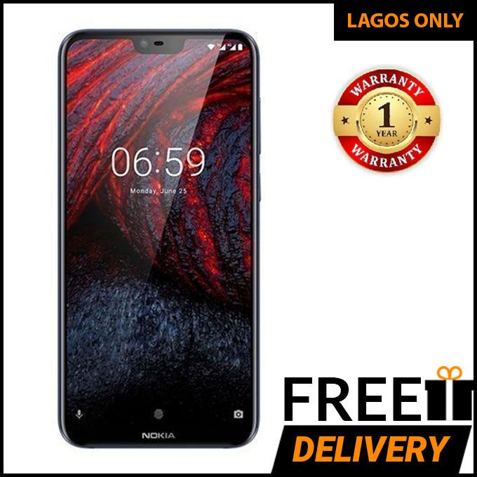 Nokia 6.1 Plus - 5.8-Inch (4GB, 64GB ROM) 16MP + 16MP, Dual Sim, 4G Smartphone - Black With 12 Months Warranty :-