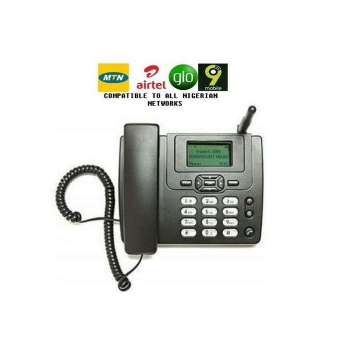 Huawei LATEST Land-Line Table Phone With FM. 3125i  Black.-