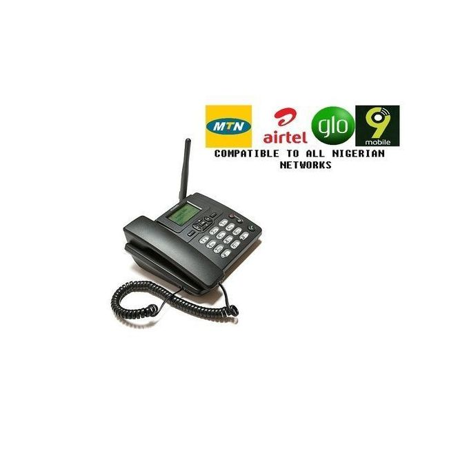 Huawei GSM LAND PHONE WITH FM RADIO FOR ALL NETWORKS - Black :-