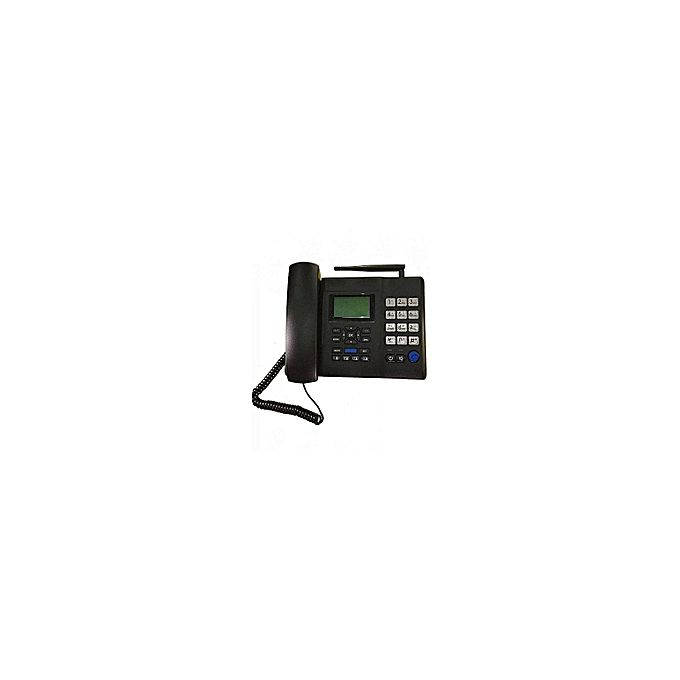 Huawei Landline Phone With Sim Card -Black. :- Support any GSM SIM card (Airt...