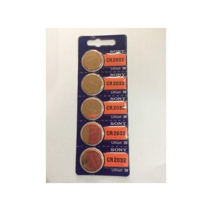 Sony Cr 2032 3volts Lithium Battery X 5 -