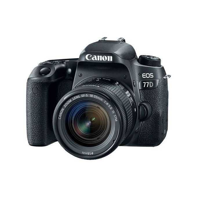 Canon EOS 77D DSLR Camera With EF-S 18-55mm IS STM Kit - Black -