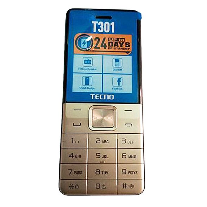 Tecno Tecno T301 Dual Sim With Camera & TorchLight Fm Loud Speaker - Champagne Gold :- Operating system: mosNetwork:...