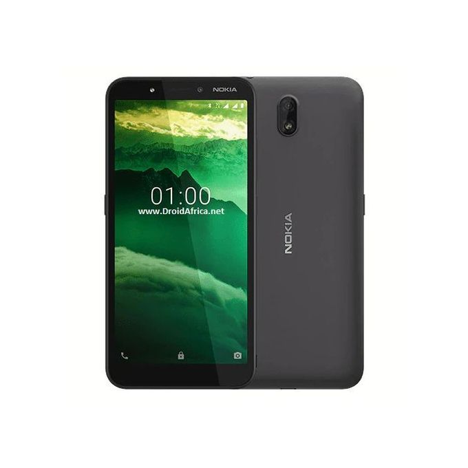 """Nokia C1 5.45"""" 1GB 16GB Android 9.0 Pie 5+5 Mp 2500 MAh - Charcoal :-"""