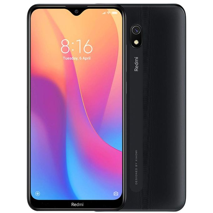 XIAOMI Mi Redmi 8A, 6.2 Inch 2GB RAM, 32GB ROM,  Camera 12MP + 8MP, 4G, Dual SIM - Midnight Black - 6.2 inch infinity-V IPS Displa...