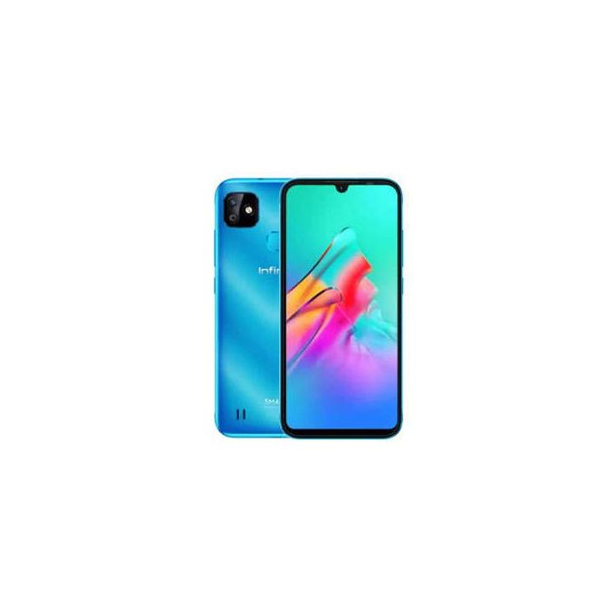 """Infinix Smart HD 2021(X612)- 6.1"""" HD+ WATERDROP- 32GB ROM/ 2GB RAM- Android 10 (Go Edition 5000 MAh, Non-removable Topaz Blue :-"""