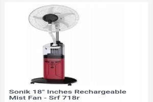 Sonik Japan Rechargeable mist fan :- It's very efficient and last l...